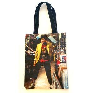 Retro 80's Movie Pretty Pink Ducky fabric tote bag